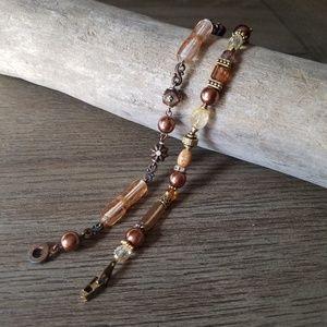 Copper beaded bracelets
